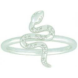 Bague femme serpent OR Gris 9 carats / 375‰