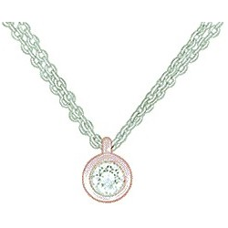 Collier femme oxyde OR rose et blanc 9 carats / 375‰